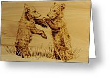 Bear Cubs Greeting Card
