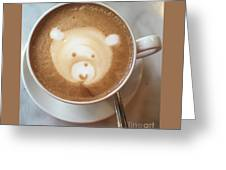 Bear Cup Latte  Greeting Card