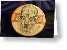 Bear Drum Greeting Card