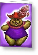 Bear In Red Hat Greeting Card