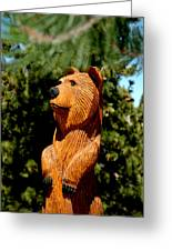 Bear In Woods Greeting Card