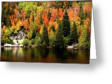 Bear Lake Autumn Greeting Card