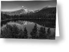Bear Lake In Black And White Greeting Card