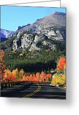 Bear Lake Road In Autumn Greeting Card