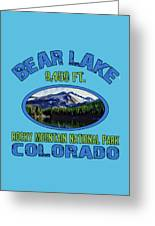 Bear Lake Rocky Mountain National Park Colorado Greeting Card