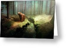 Bear Mountain Fantasy Greeting Card