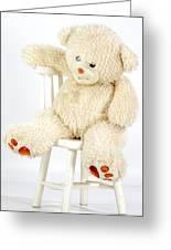 Bear On A Chair Greeting Card