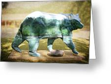 Bear On The Little Tennessee River Greeting Card