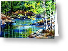Bear Paw Stream Greeting Card