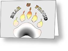 Bear Pride Paw With Text Greeting Card