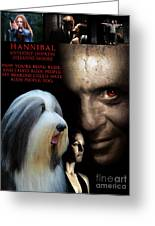 Bearded Collie Art Canvas Print - Hannibal Movie Poster Greeting Card