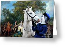 Bearded Collie Art Canvas Print - Picnic After The Hunt Greeting Card