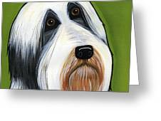 Bearded Collie Greeting Card by Leanne Wilkes