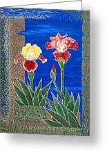 Bearded Irises Cheerful Fine Art Print Giclee High Quality Exceptional Color Greeting Card