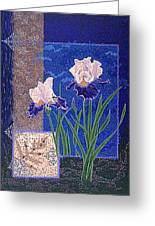 Bearded Irises Fine Art Print Giclee Ladybug Path Greeting Card