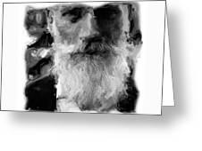 Bearded Man Greeting Card