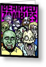 Bearded Zombies Group Photo Greeting Card