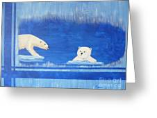 Bears In Global Warming Greeting Card