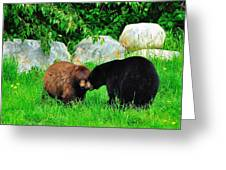 Bears In Love Greeting Card