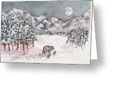 Bears In Winter Greeting Card