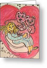 Bear's Love's Hugs Greeting Card