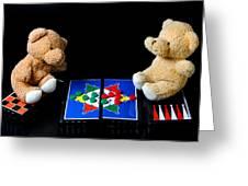 Bears Playing Halma Greeting Card