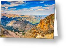 Beartooth Highway Scenic View Greeting Card