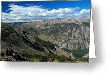 Beartooth Mountain Vista Greeting Card