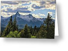Beartooth Mountains In Spring Greeting Card