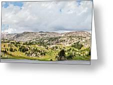 Beartooth Mountains Panorama Greeting Card