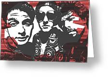 Beastie Boys Graffiti Tribute Greeting Card