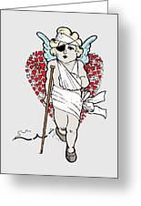 Beaten Up Cupid Art - Funny Love Broken Heart Art Greeting Card