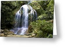 Beatifull Cuban Waterfall Greeting Card