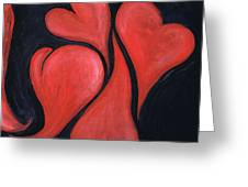 Beating Hearts  Greeting Card