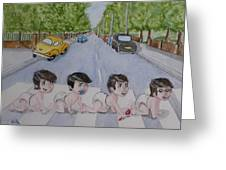 Beatles Abbey Road .... Babies Greeting Card