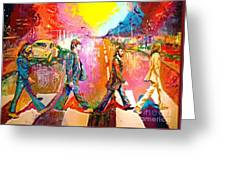 Beatles Abbey Road  Greeting Card