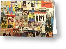 Beatles Collage 1 Greeting Card