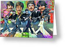 Beatles Fan Art Greeting Card