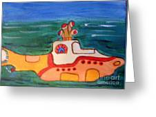 Beatles Yellow Submarine   Greeting Card