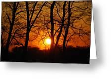 Beauatiful Red Sunset Greeting Card