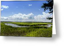 Beaufort Intracoastal Waterway Greeting Card
