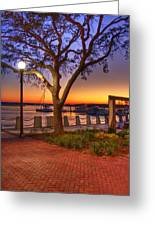Beaufort Waterfront Greeting Card