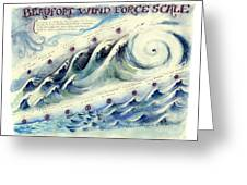 Beaufort Wind Force Scale Greeting Card