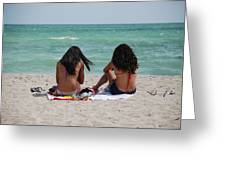 Beauties On The Beach Greeting Card