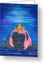 Beauties On The Rock Greeting Card