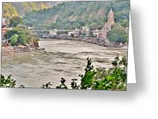 Beautiful Afternoon On The Ganges Greeting Card
