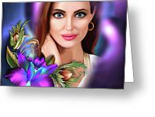 Beautiful Angie Greeting Card