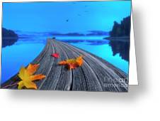 Beautiful Autumn Morning Greeting Card