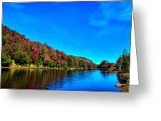 Beautiful Autumn Reflections On Bald Mountain Pond Greeting Card