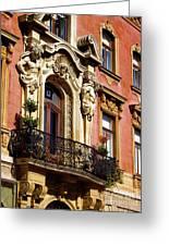 Beautiful Balcony In Austria Greeting Card